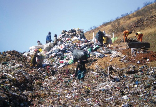Dumpsite in South Africa, pic by Melanie Samson