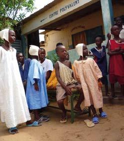 Centre de santé de Bokk Diom sur le site de décharge à Mbeubeuss, au Sénégal.
