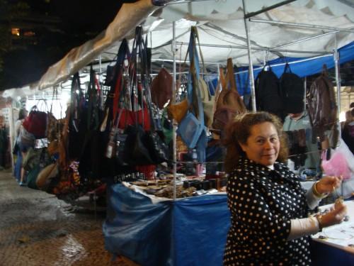Rio de Janeiro street vendor that lost her license.