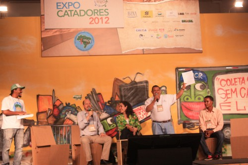 David Narvaez at Global panel, expocatadores