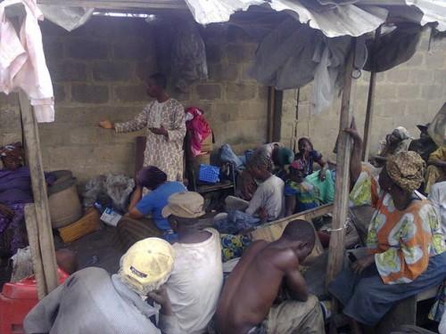 waste pickers' meeting in ibadan, nigeria