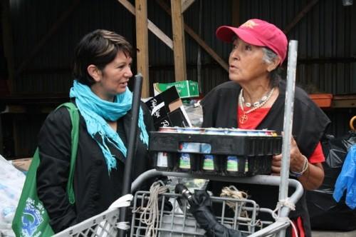 Nohra Padilla con los recicladores de Nueva York