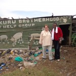 Evalyne Wanyama and Elaine Jones at Dandora dumpsite. Credit: Evalyne Wanyama.