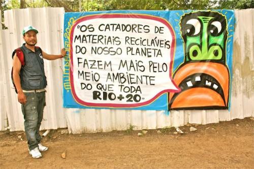 Alex Cardoso, MNCR, na Cúpula dos Povos, Rio de Janeiro.