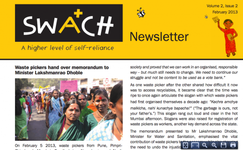 swach newsletter - feb 2013