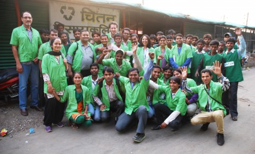 Chintan-Safai Sena Team on Earth Day - April 22, 2013. Photo credit: Chintan.