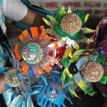 """Bindi bulbs"", one of the many creations of Kabad se Jugad. Photo credit: Rolando Politi."