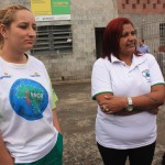 Waste pickers' network leader on the left and Maria Mônica da Silva, of CooperLimpa, on the right. Photo credit: WIEGO.