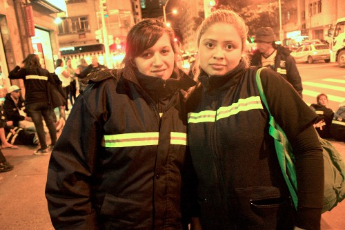 Yamila Lopez, on the right, with an MTE co-worker. (Photo: Deia de Brito)
