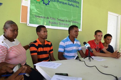Reunión de prensa. Foto: La Asociación de Recicladores del EcoParque Rafey.