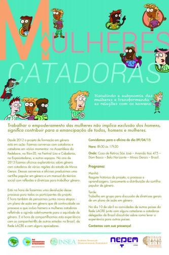 MULHERES CATADORAS_afiche-portugues