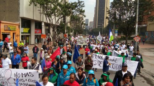 Rally in Bogota for the global waste pickers' day
