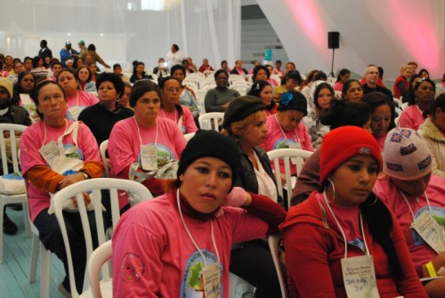 Participants at the Women Waste Pickers' Conference.