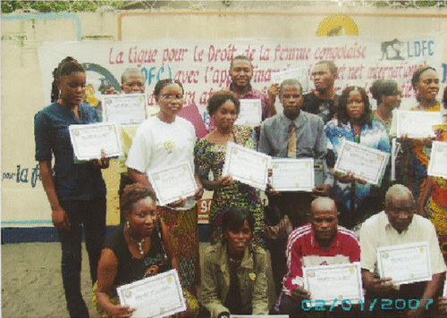 Waste pickers' meeting in the DRC. Photo credit: NGO LDFC.