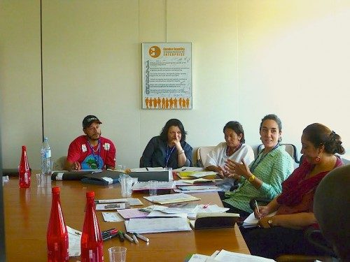 Meeting with the ILO Cooperative Branch. Photo: Karin Pape