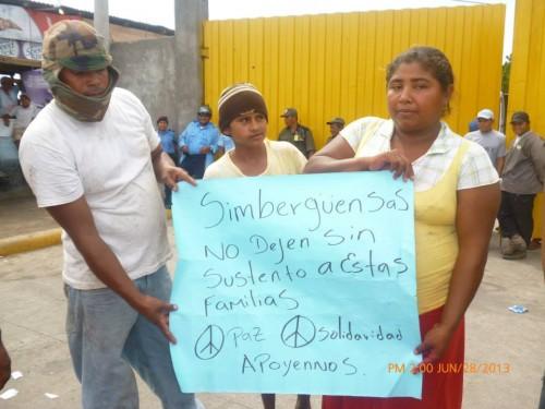 « N'abandonnez pas ces familles sans travail. Paix, solidarité. Soutenez-nous »
