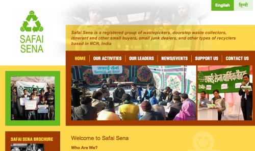 Safai Sena's new website.