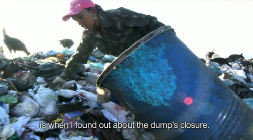 "Screen shot from the documentary about Gericinó dump in Rio called ""Catador""."