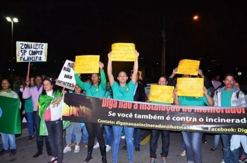 Protesto contra incineração em Barueri. (Photo: MNCR)