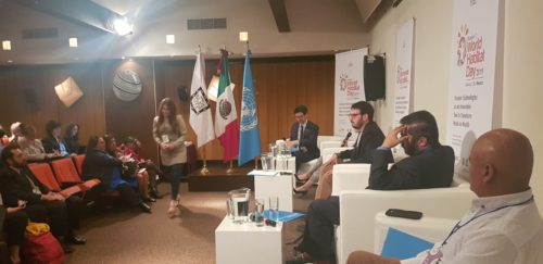 Abel Balderas at the round table in the World Habitat Day held in Mexico.