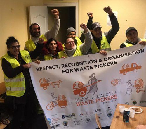Recicladores de la Asociación Amelior en el día del reciclador