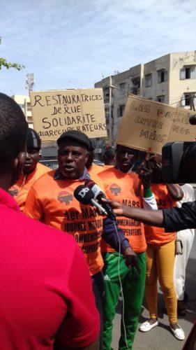 Manifestación silenciosa de Bokk Diom en Dakar, Senegal. 1º marzo 2020