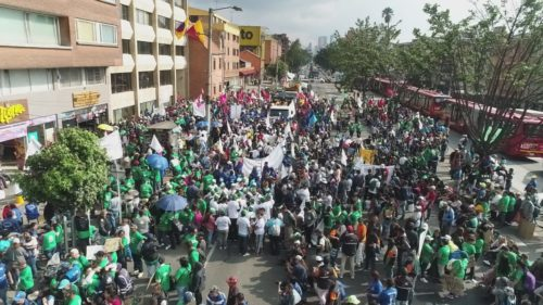 March 2nd, 2020 demonstration. Bogota (Colombia) for Global Waste Pickers day.