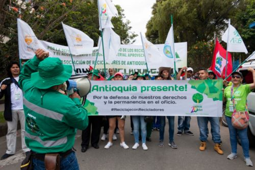 March 2nd, 2020 demonstration. Bogota, Colombia. Global Waste Pickers day.